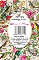 Decorer - Birds & Roses, Korttikuvia, 24 osaa