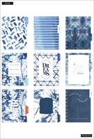 MAMBI - CLASSIC Happy Planner, Indigo Tie Dye, päivätty 18kk
