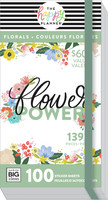 MAMBI - Happy Planner, Mega Value Pack Stickers, Flower Power, Tarrasetti, 100arkkia