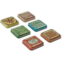 Tim Holtz - Idea-Ology Tin Tops, 6 kpl