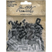Tim Holtz - Idea-Ology Mini Marquee Letters, 144 kpl