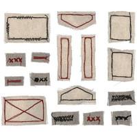 Tim Holtz - Idea-Ology Stitched Scraps, Basics, 16 kpl