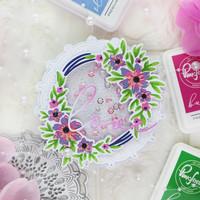 Pinkfresh Studio - Rustic Floral Wreath, Kerrossapluunasetti