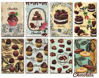 Decorer - Chocolate, Korttikuvia, 24 osaa