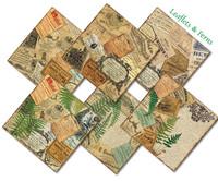 Decorer - Leaflets & Ferns, Paper Pack 8
