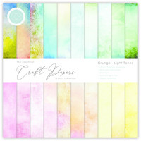 Craft Consortium - Essential Craft Papers, Grunge Light Tones, 12