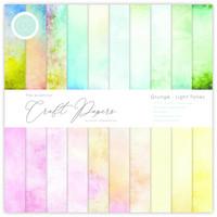 Craft Consortium - Essential Craft Papers, Grunge Light Tones, 12
