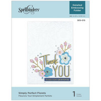 Spellbinders - Kohokuviointitasku, Simply Perfect Florets