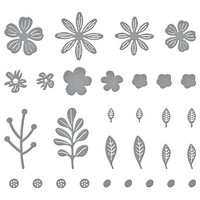 Spellbinders - Etched Dies, Stanssisetti, Mini Blooms And Sprigs