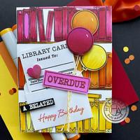 Hero Arts - Library Card XL, Leima- ja stanssisetti