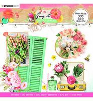 Studio Light - Say It With Flowers nr.667, Die Cut Book, Leikekuvat