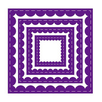 Gemini - Elements Dies, Stanssisetti, Inverted Stitched Scallop Square