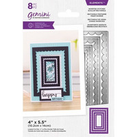 Gemini - Elements Dies, Stanssisetti, Inverted Stitched Scallop Rectangle