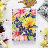 Pinkfresh Studio - Cling Rubber Stamp, Floral Focus, Leima