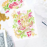 Pinkfresh Studio - Blushing Floral, Kerrossapluunasetti