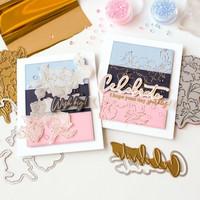 Pinkfresh Studio - Hot Foil Plate, Joyful Peonies