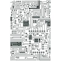 Sizzix - Textured Impressions Embossing Folder By Tim Holtz, Kohokuviointitasku, Circuit