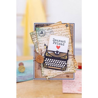 Crafter`s Companion - Sara Signature Letters from The Heart Collection, Leima- ja Stanssisetti, Classic Typewriter