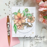 Pinkfresh Studio - It's A New Day Floral Layering, Kerrossapluunasetti