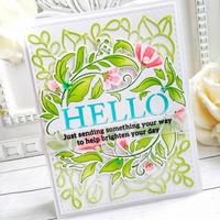 Pinkfresh Studio - Reason To Smile Wreath, Leimasetti