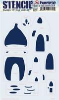 PaperArtsy - Stencil 212, Sapluuna