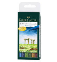 Faber-Castell - PITT Artist Pen Brush, Landscape, 6kpl