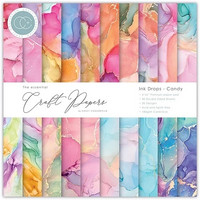 Craft Consortium - Essential Craft Papers, Ink Drops Candy, 6