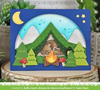 Lawn Fawn - Build-a-Campsite, Stanssisetti