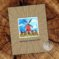 Hero Arts - Looking Glass Windmill Tulips, Stanssisetti