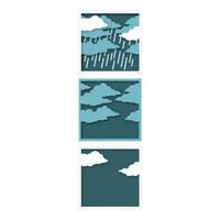 Hero Arts - Looking Glass Rain & Clouds, Stanssisetti