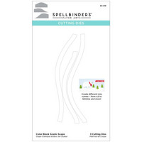Spellbinders - Etched Dies, Stanssisetti, Color Block Scenic Scape