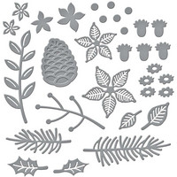 Spellbinders - Etched Dies, Stanssisetti, Christmas Blooms