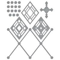 Spellbinders - Etched Dies, Stanssisetti, Kaleidoscope Argyle