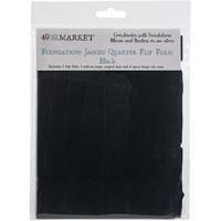49 and Market - Foundations Jagged Quarter Flip Folio, Black