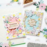 Pinkfresh Studio - Happy Blooms Frame, Kerrossapluunasetti