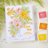 Pinkfresh Studio - Happy Blooms Floral, Kerrossapluunasetti