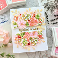 Pinkfresh Studio - Just A Hello Floral Layering, Kerrossapluunasetti