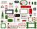 Carta Bella - Home For Christmas Frames & Tags, Leikekuvia, 33 kpl