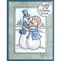 Stampendous - Snow Couple Hug, Leima
