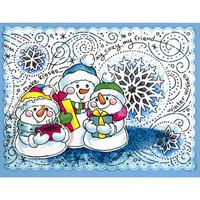 Stampendous - Slim Snowflake Wishes, Leima