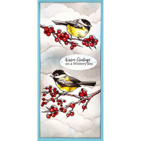 Stampendous - Chickadee Holiday, Leimasetti