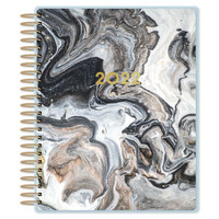 Paper House - 12-Month Dated Planner, Black Marble