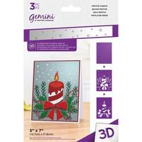 Gemini - 3D Embossing Folder & Stencils, Festive Candle
