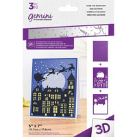 Gemini - 3D Embossing Folder & Stencils, Over the Rooftops