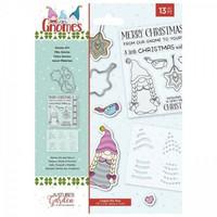 Crafter`s Companion - Gnomes, Leima-, Stanssi- ja Sapluunasetti, Gnome Girl