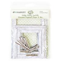 49 and Market - Vintage Artistry Essentials Frames & Bits Set, Whitewash