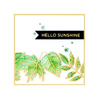 Spellbinders - Glimmer Hot Foil Plate, Autumn Leaf Border