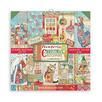 Stamperia - Christmas Patchwork, Paper Pack 8