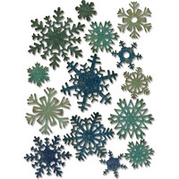 Sizzix - Thinlits Dies By Tim Holtz, Stanssisetti, Mini Paper Snowflakes