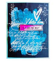 Studio Light - Art By Marlene, Cling Stamp, Writngs Essentials nr.79, Leimasetti